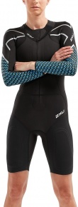 2XU Pro-Swim Run SR1 Wetsuit Women Black/Aquarius Teal Print