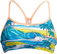 Funkita Summer Bay Eco Swim Crop Top