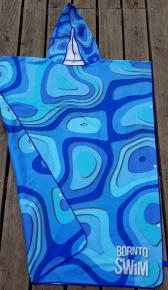 BornToSwim Poncho Blue