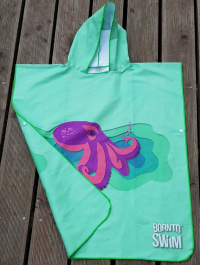 BornToSwim Octopus Poncho Junior Green