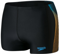 Speedo Tech Panel Aquashort Black/Mango/Pool