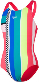 Speedo Digital Placement Pulseback Girl Lava Red/Fluo Yellow/Cotton Candy/Jade/Blue/White/Black