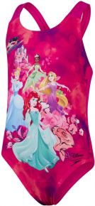 Speedo Disney Princess Digital Placement Swimsuit Infant Girl Electric Pink/Violet/Black