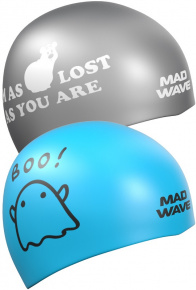 Mad Wave Boo! Reversible Swim Cap