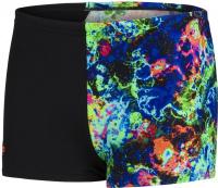 Speedo Digital Placement Aquashort Boy Black/Volcanic Orange/Lapis/Cobalt/Light Adriatic