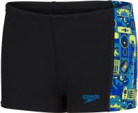 Speedo Allover Panel Aquashort Boy Black/Lapis/Light Adriatic/Acid