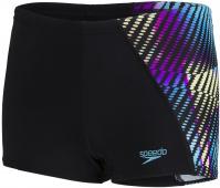 Speedo Digital Panel Aquashort Boy Black/Blue Jewel/Surge Yellow