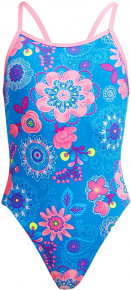 Funkita Lacy In The Sky Single Strap One Piece Girls