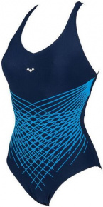Arena Maia Criss Cross Back One Piece Navy/Bright Blue