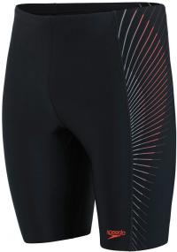 Speedo Tech Panel Jammer Black/Lava Red/Oxid Grey
