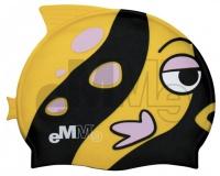 Dětská čepička pro plavce Emme černo-žlutá ryba