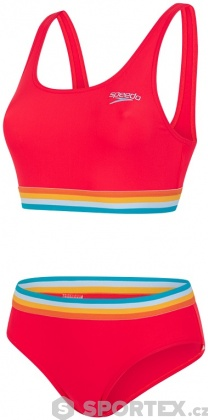 Speedo Solid U-Back 2 Piece Lava Red/Orange Fizz/Mango/Sky Blue/Blue Ray
