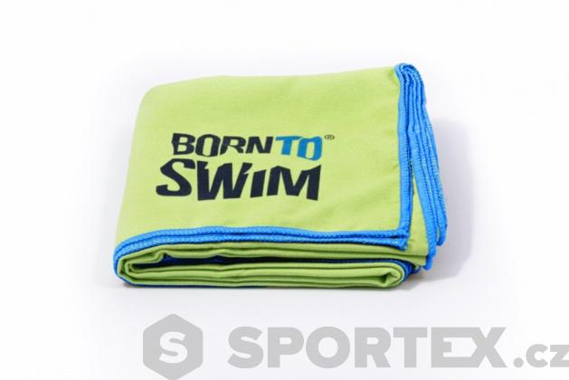 Microfibre ručník BornToSwim Towel Zelená